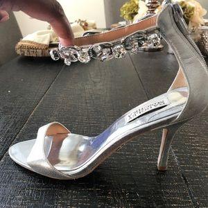 Badgley Mischka studded heel